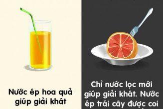 Những lầm tưởng về đồ uống